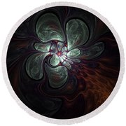 Abstract051710a Round Beach Towel