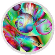 Abstract051710b Round Beach Towel