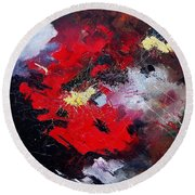 Abstract070406 Round Beach Towel