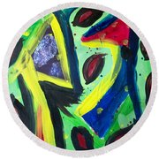 Abstract3 Round Beach Towel