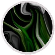 Abstract309h Round Beach Towel