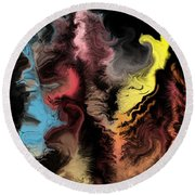 Abstract309i Round Beach Towel