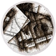 Abstracta 24 Cadenza Round Beach Towel
