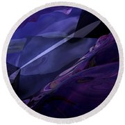 Abstractbr6-1 Round Beach Towel