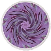 Abstracted Twirl Pink Hydrangea Flowers Round Beach Towel