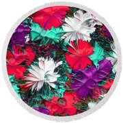 Abstractil212116 Round Beach Towel