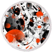 Abstraction 1109 Round Beach Towel