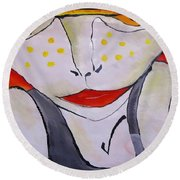 Abstraction 1718 Round Beach Towel