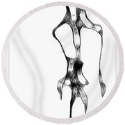 Abstraction 1802 Round Beach Towel