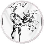 Abstraction 1808 Round Beach Towel