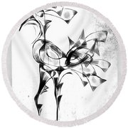 Abstraction 1809 Round Beach Towel