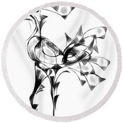 Abstraction 1810 Round Beach Towel