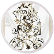 Abstraction 1959 Round Beach Towel