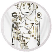 Abstraction 2043 Round Beach Towel