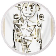 Abstraction 2044 Round Beach Towel