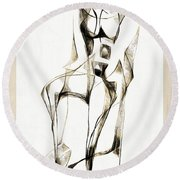 Abstraction 2182 Round Beach Towel