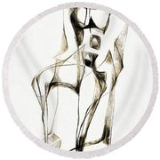 Abstraction 2183 Round Beach Towel