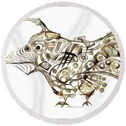 Abstraction 2247 Round Beach Towel