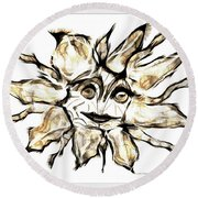 Abstraction 2252 Round Beach Towel
