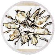 Abstraction 2253 Round Beach Towel