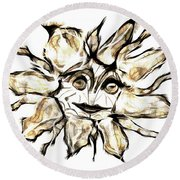 Abstraction 2254 Round Beach Towel