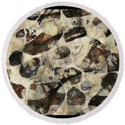 Abstraction 2323 Round Beach Towel