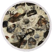 Abstraction 2325 Round Beach Towel