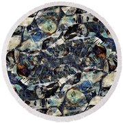 Abstraction 2326 Round Beach Towel