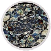 Abstraction 2327 Round Beach Towel