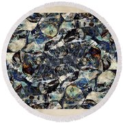 Abstraction 2328 Round Beach Towel