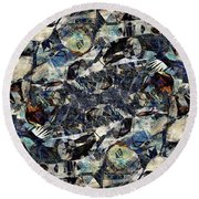 Abstraction 2329 Round Beach Towel
