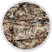 Abstraction 2339 Round Beach Towel