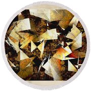 Abstraction 2398 Round Beach Towel