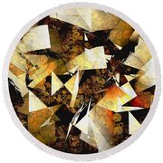 Abstraction 2399 Round Beach Towel