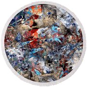 Abstraction 2400 Round Beach Towel