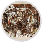 Abstraction 2406 Round Beach Towel