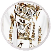 Abstraction 2423 Round Beach Towel