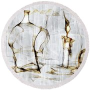 Abstraction 2426 Round Beach Towel