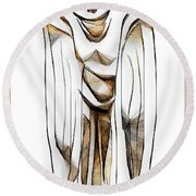 Abstraction 2427 Round Beach Towel