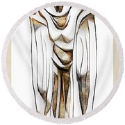 Abstraction 2428 Round Beach Towel