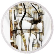 Abstraction 2430 Round Beach Towel