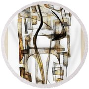 Abstraction 2431 Round Beach Towel