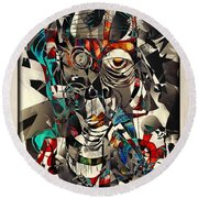 Abstraction 2502 Round Beach Towel