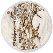 Abstraction 2565 Round Beach Towel