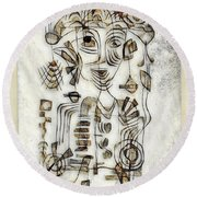 Abstraction 2569 Round Beach Towel