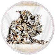 Abstraction 2740 Round Beach Towel