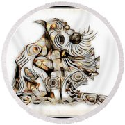 Abstraction 2741 Round Beach Towel