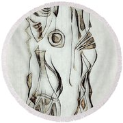 Abstraction 2822 Round Beach Towel