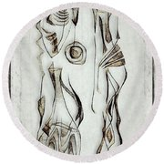 Abstraction 2823 Round Beach Towel