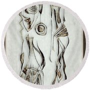 Abstraction 2824 Round Beach Towel
